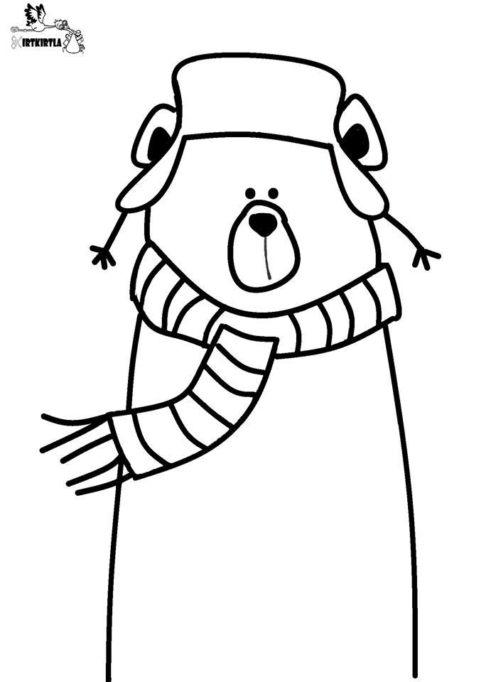 Kutup Ayisi Kirtkirtla Boyama Sayfası örnekleri