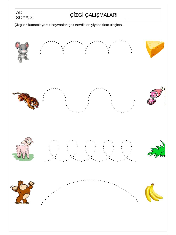 1 Sınıf çizgi çalışmaları Yazıları Sayfa 5 5 Kirtkirtla