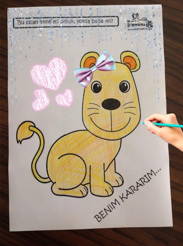 aslan boyama sayfası