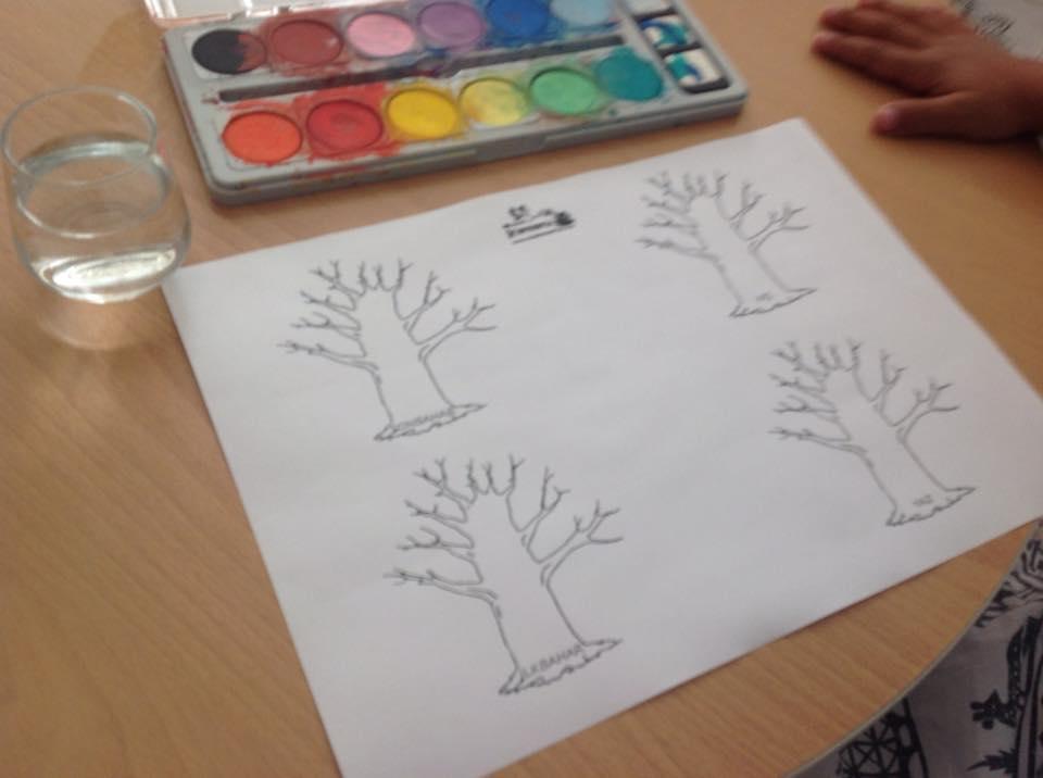 Mevsimler, Ağaç Boyama Sayfası