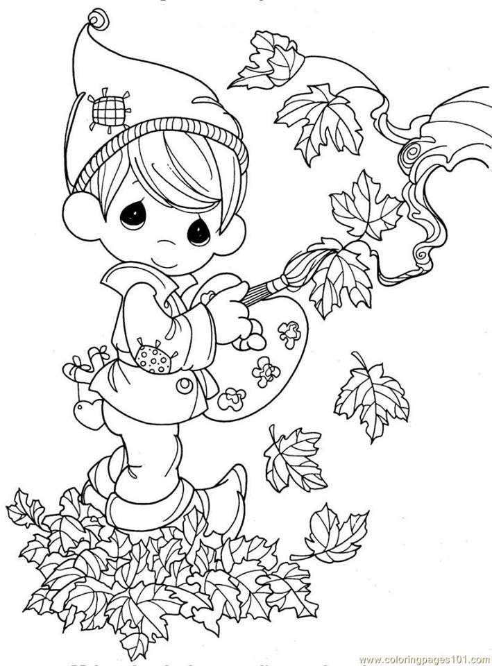 Sonbahar Boyama Sayfaları Kirtkirtla