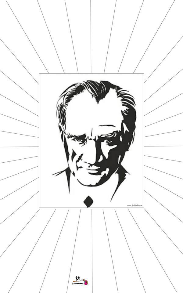 Atatürk çerceve Kalıp 10 Kasım Etkinlikleri Atatürk