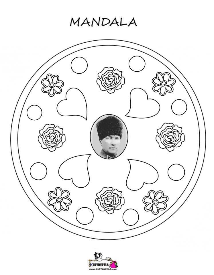 Atatürk Mandala Boyama