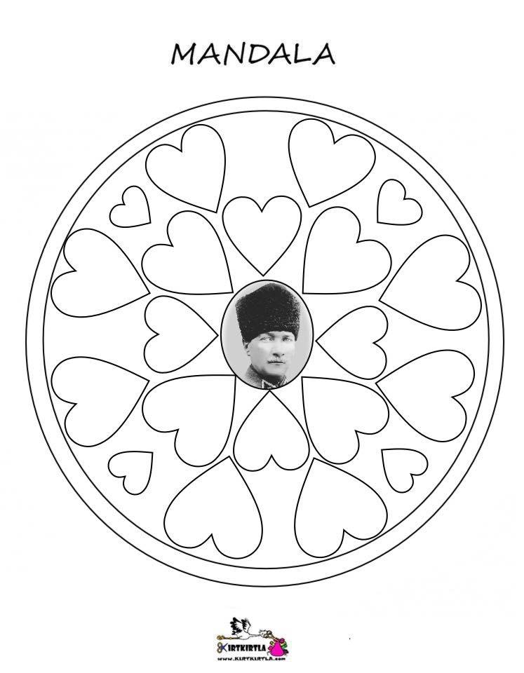 Atatürk Mandala Kirtkirtla Atatürk Mandala Boyama