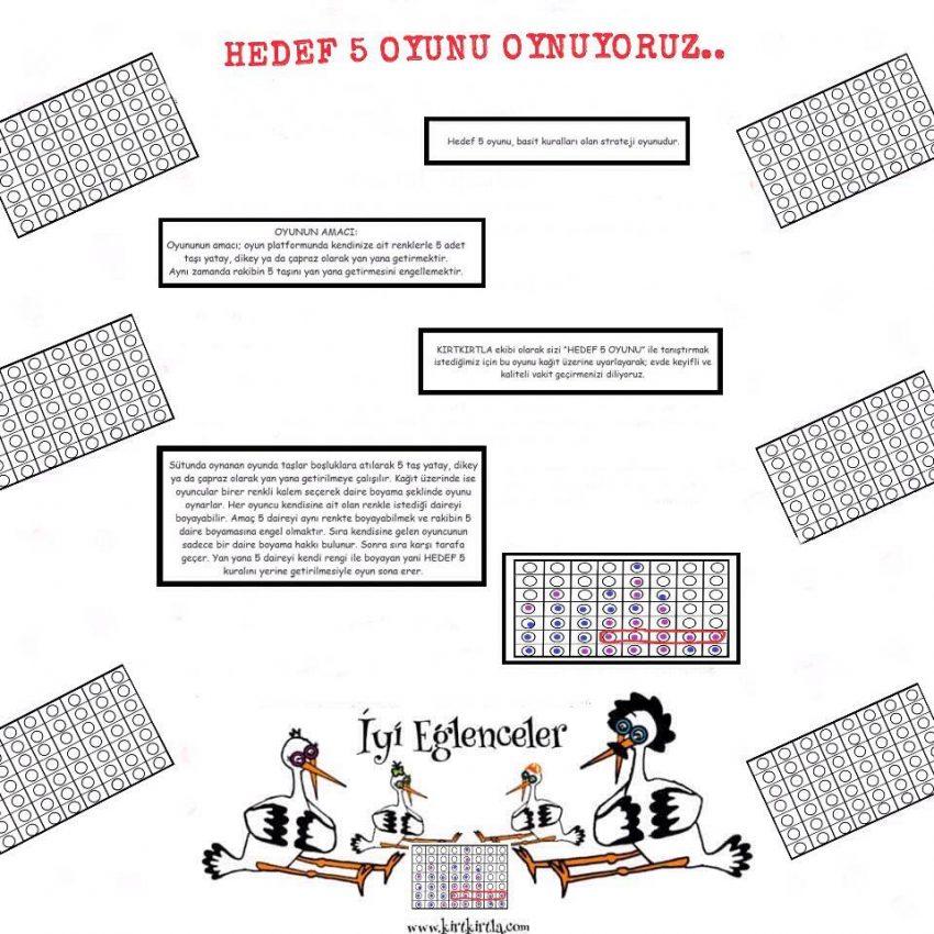 KIRTKIRTLA AİLESİ : Hedef 5 Oyunu Oynuyoruz