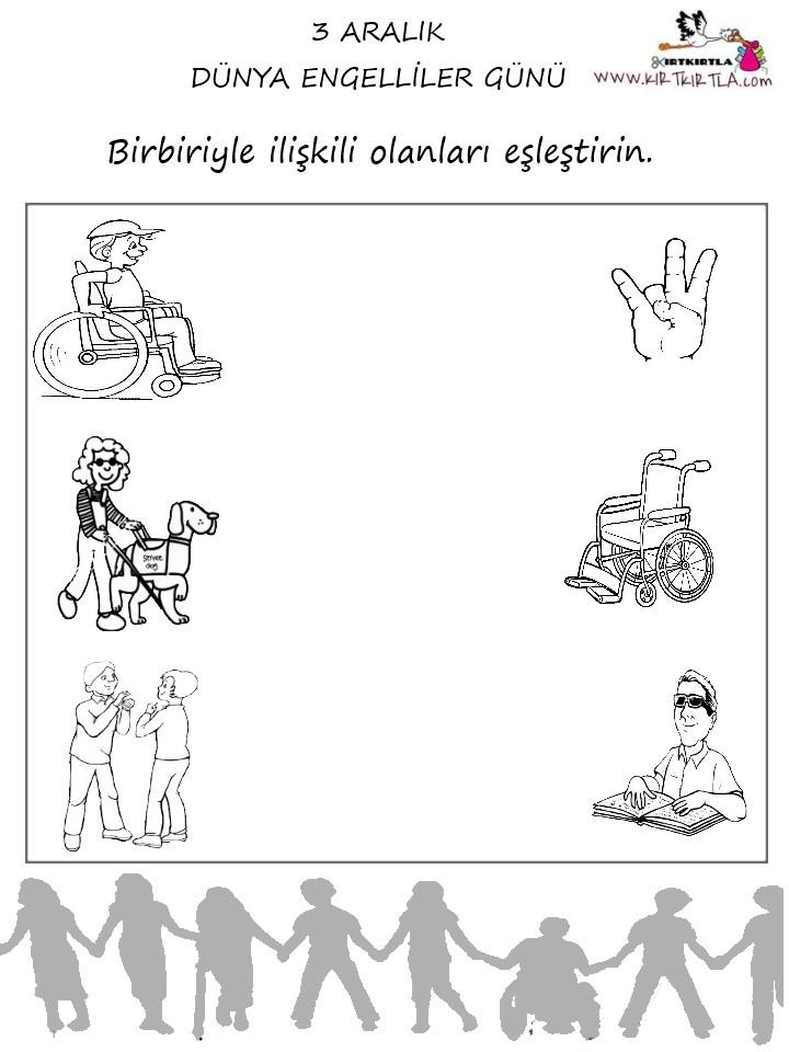 Engelliler Haftası Eşleştirme Kirtkirtla