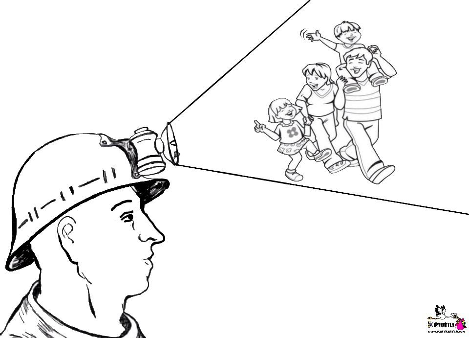Madenciler Günü Boyama Sayfası Kirtkirtla