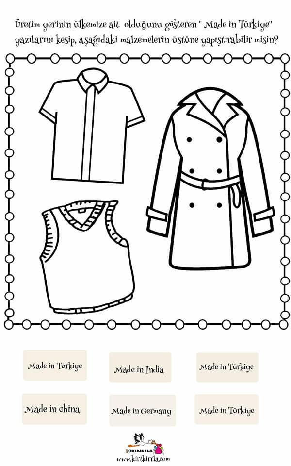 Made In Turkiye 5 Calisma Sayfasi Yerli Mali Okul Oncesi