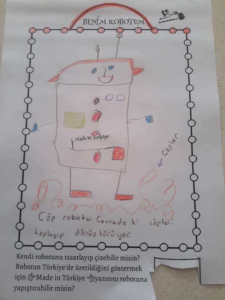 robotlarımız 2 kırtkırtla - KENDİ ROBOTUNU TASARLA