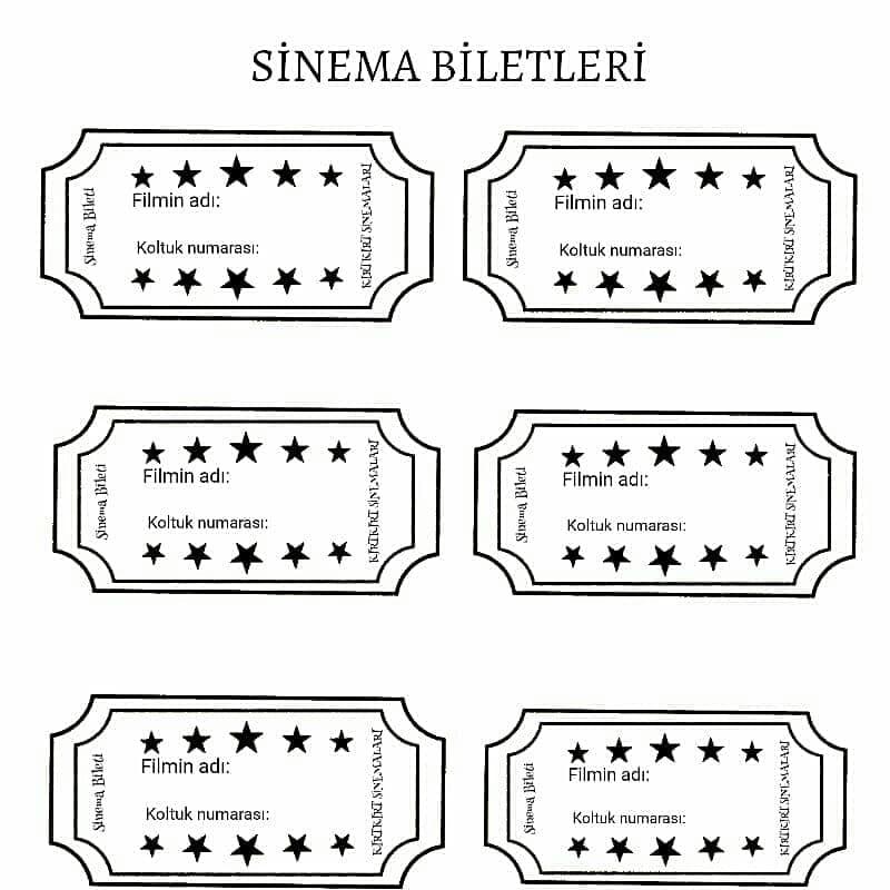 sinema bileti kırtkırtla - SİNEMA GECESİ