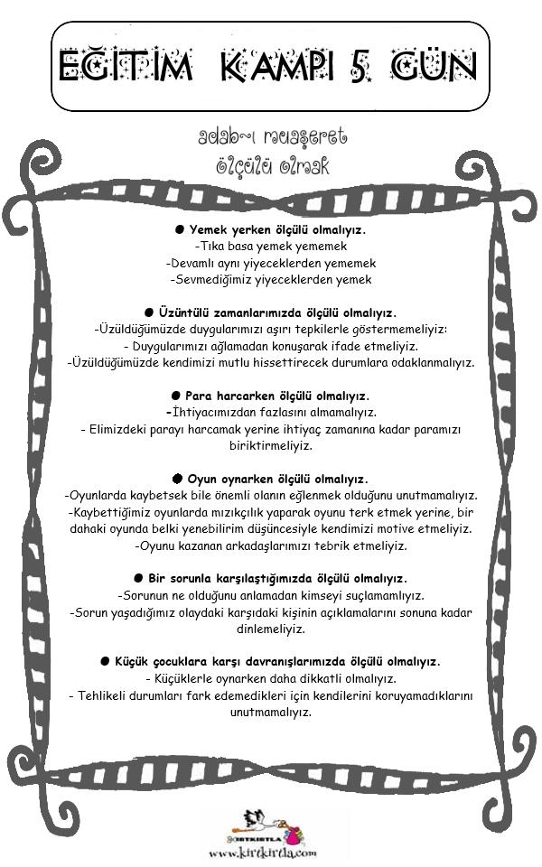 15 TATİL evde yapılacak etkinlikler ölçülü olmak KIRTKIRTLA 2 - 15 TATİL EĞİTİM PROGRAMI 5. GÜN
