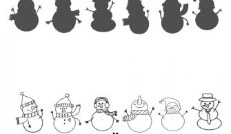 Kardan Adam Eşleştirme- Snowman Matching