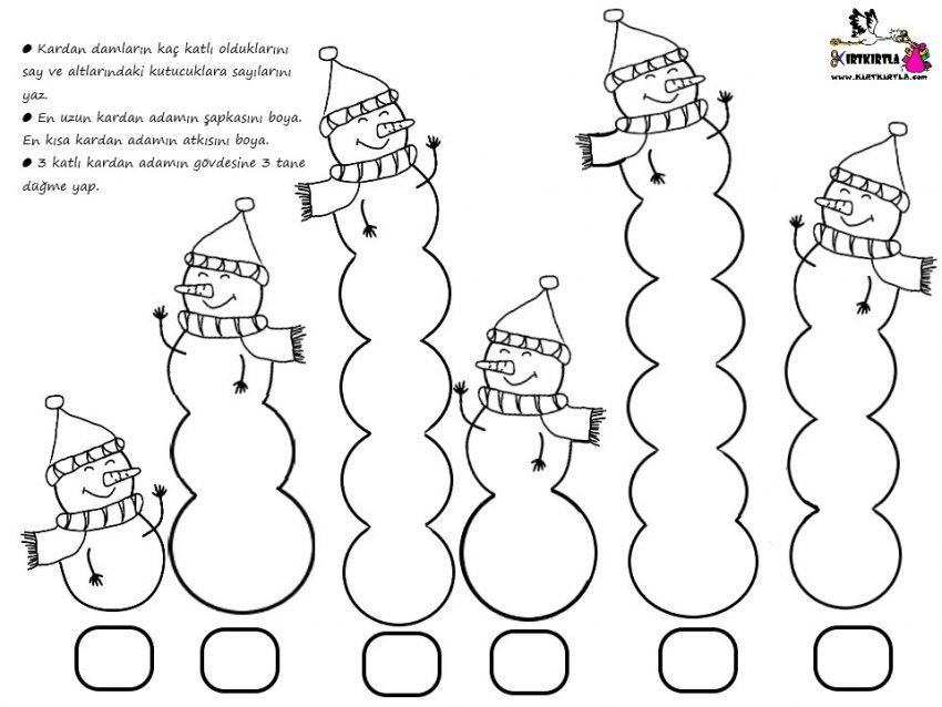 ÇALIŞMA SAYFASI : Kardan Adam