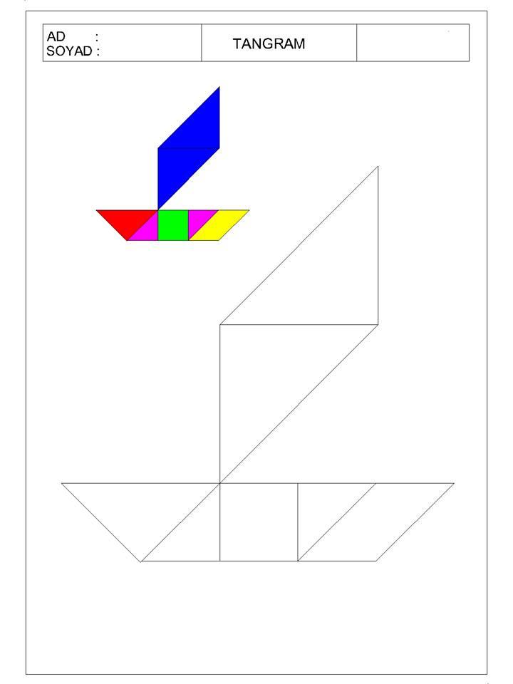 okul öncesi tangram 10 - TANGRAM-9