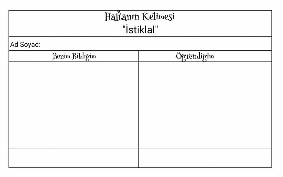 haftanınkelimesi kırtkırtla - HAFTANIN KELİMESİ - İSTİKLAL -