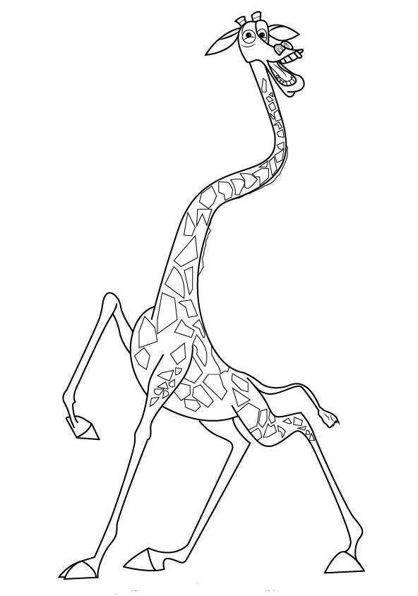 Zürafa Boyama Sayfasi 1 Kirtkirtla