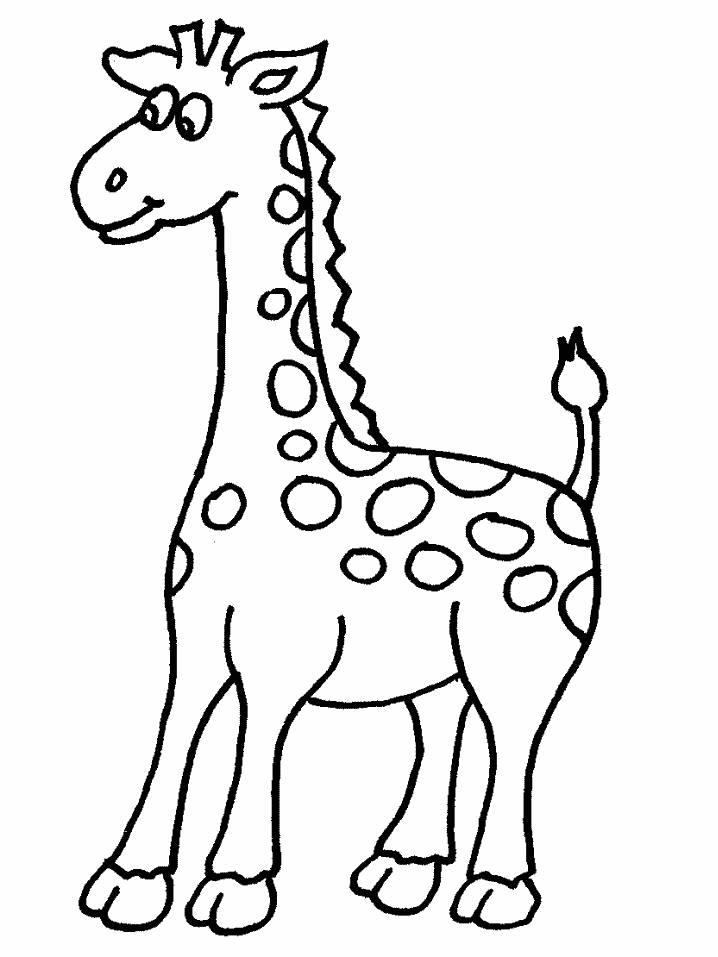 Zürafa Boyama Sayfasi 6 Kirtkirtla