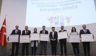BİNLERCE OKULA 'BESLENME DOSTU' SERTİFİKA