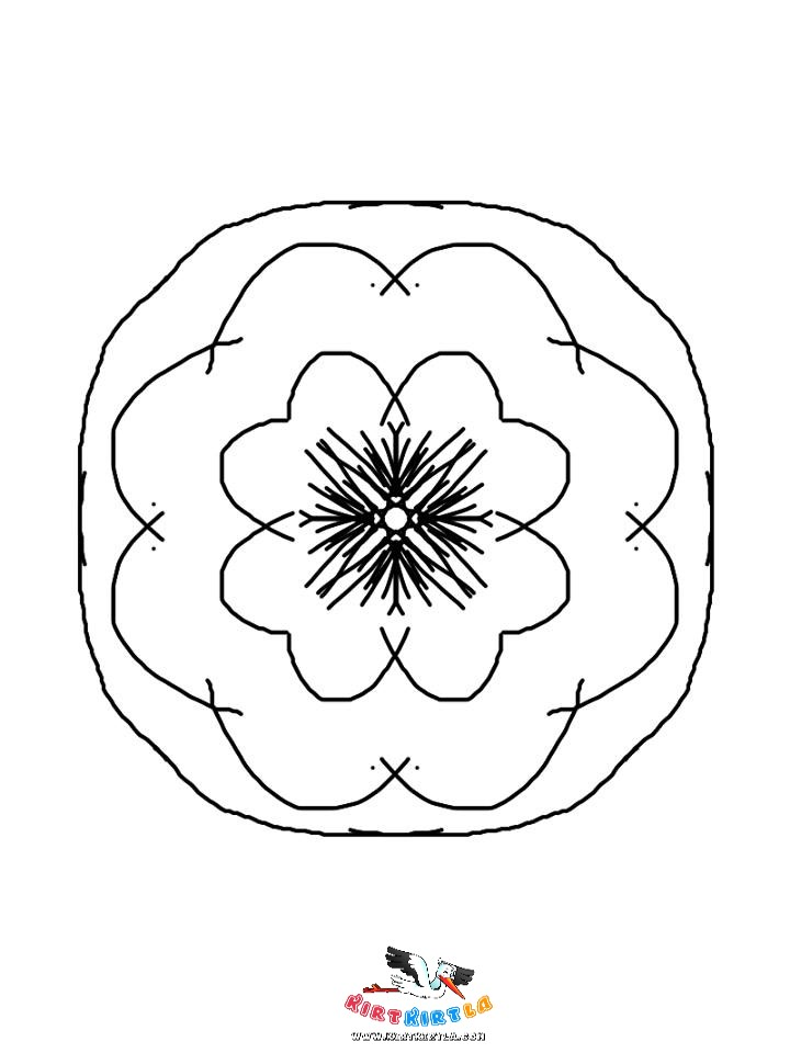 Cicek Mandala Boyama Kirtkirtla