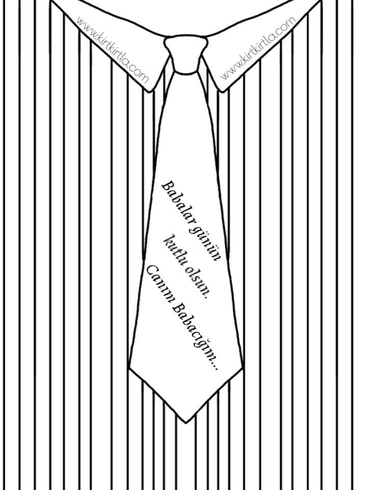 BABALAR günü gömlek boyama sayfası