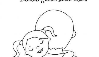Babalar Günü Boyama Sayfası Örnekleri