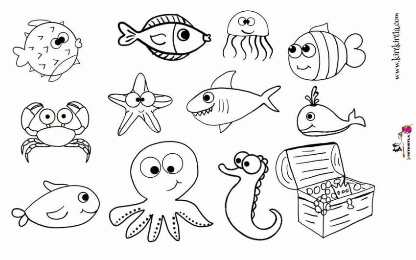 Baliklar Boyama Sayfasi Craft Preschool Kirtkirtla