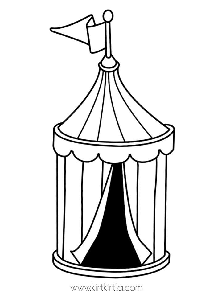 sirk çadırı boyama sayfası
