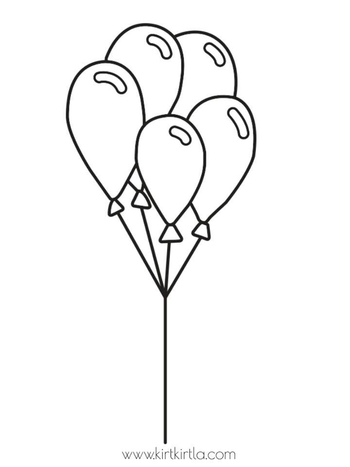 balonlar boyama sayfası