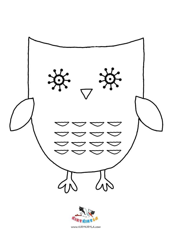 Baykuş- Boyama Sayfası