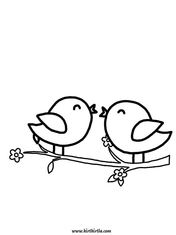 kuşlar boyama sayfası