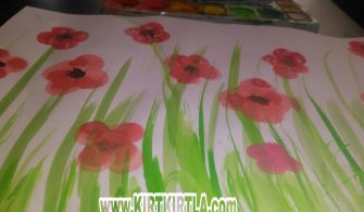Baskı Çalışması ile Çiçek Yapıyoruz