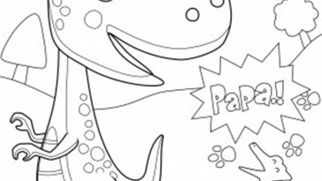 Dinozor Boyama Sayfasi Kirtkirtla