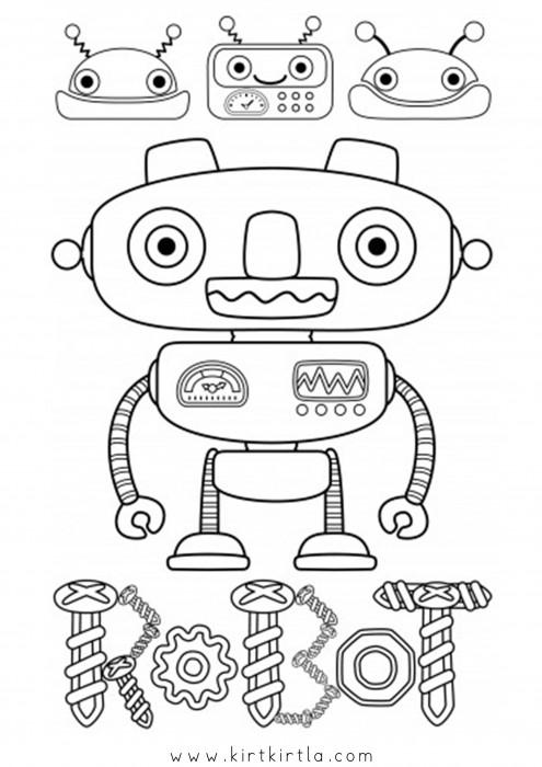 Robot Boyama Sayfalari Kirtkirtla